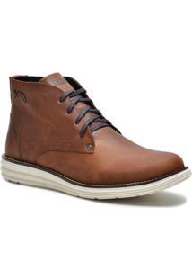 Bota Couro Tchwm Shoes Cano Medio Social Masculina - Masculino-Marrom Claro