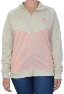 Jaqueta New Era Track Top Girls Branded Rosa / G