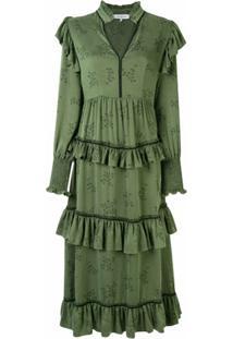 Lug Von Siga Vestido Edith Com Amarração - Verde