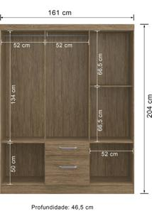 Guarda-Roupa 6 Portas Decibal Rp3620 Wood Se