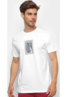 Camiseta Volcom Silk Slim Peace Off Masculina - Masculino