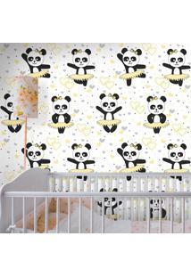 Papel De Parede Panda Ballet Clean