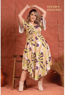 Vestido Liberty Costela De Adão Plus Size
