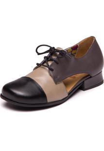 Sapato Turmalina/Abufalado Preto - 7770 Mzq - Kanui