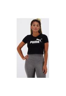 Cropped Puma Essentials Fitted Feminino Preto