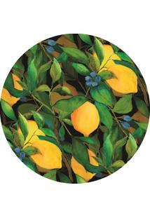 Jogo Americano Bendita Feitura Limão E Folhas Em Ps Verde
