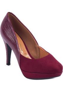 Sapato Vizzano Salto Fino - Feminino-Vinho