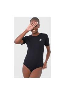 Body Calvin Klein Underwear Logo Preto