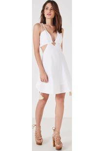 9b71e66719 ... Vestido Curto Linho Branco Branco - 42