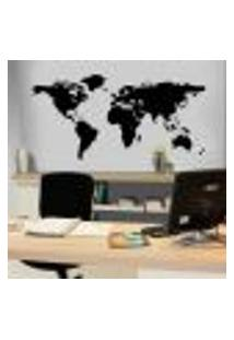 Adesivo De Parede Decorativo Mapa Mundi - Es 100X210