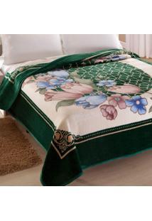 Cobertor King Kyor Plus Toulon 1 Peça Microfibra Jolitex Verde