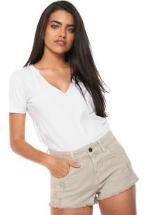 Camiseta Redley Decote V Branca