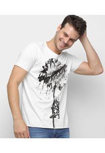 Camiseta Derek Ho Skull Flower Masculina - Masculino-Off White