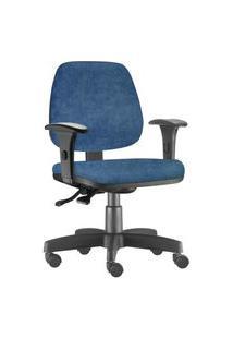 Cadeira Giratória Lyam Decor Job Azul