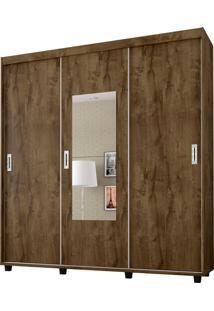 Guarda-Roupa Valenca 3 Portas Com E Espelho Madeira Rústica Móveis Bechara