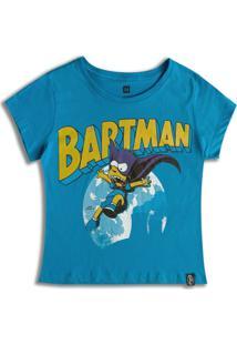 Camiseta Feminina Simpsons Bartman - Feminino-Azul