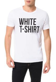 Camiseta Calvin Klein Jeans Estampa White T-Shirt Branco - Gg