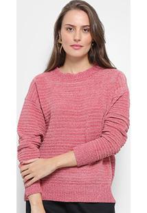 Suéter Tricot Facinelli Lurex Feminino - Feminino-Rosa