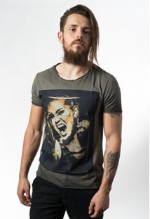 Camiseta Estonada Skull Lab Punk Star - Masculino-Grafite