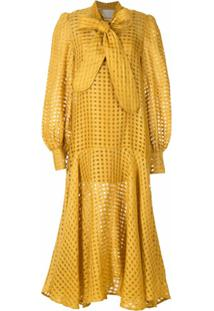 Aluf Vestido Amplo Marcia - Amarelo