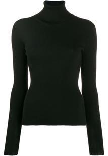 Dolce & Gabbana Blusa De Tricô Com Gola Alta - Preto