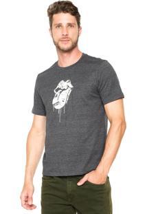 Camiseta Cavalera Rolling Stones Cinza