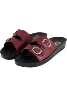 Sandália Rossi Shoes Feminino - Feminino-Vinho