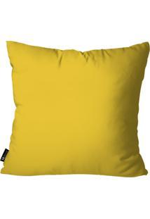 Capa Para Almofada Mdecore Lisa 35X35Cm Amarelo