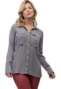 Camisa Mx Fashion Viscose Mike Cinza