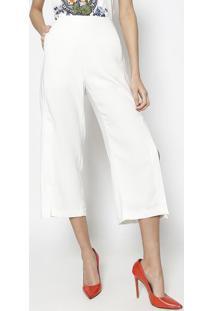 bf5f48579 ... Calça Pantalona Com Fendas- Off Whitelez A Lez