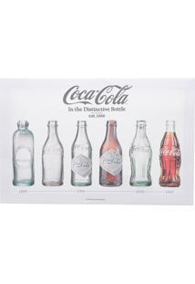 Quadro Tela Decorativa Coca-Cola Evolution Of Bottles Cinza 30X1,5X22 Cm Urban