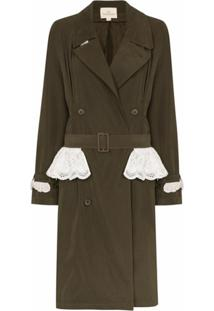 Rentrayage Trench Coat Weekend In Sandringham - Verde