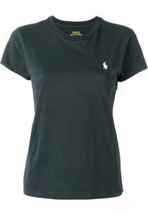 Polo Ralph Lauren Camiseta Slim Com Logo - Azul