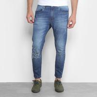 5b7ac1e10 Calça Jeans Cropped Destroyed Handbook Luciano Masculina - Masculino