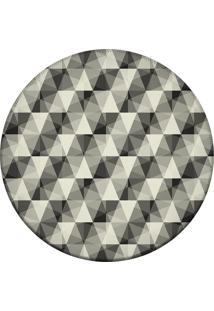 Tapete Love Decor Redondo Wevans Abstrato Cinza 84Cm
