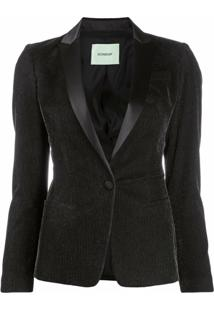 Dondup Corduroy One-Button Blazer - Preto