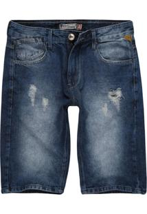 Bermuda Jeans Khelf Slim Jeans Azul