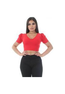 Blusinha Tx20 Cropped Vermelho
