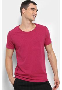 Camiseta Calvin Klein Slim Estampa Costas Masculina - Masculino-Rosa Escuro