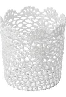 Cesta Redonda Em Forma De Croche Impermeável De Plástico 17X18 Cm - Unissex
