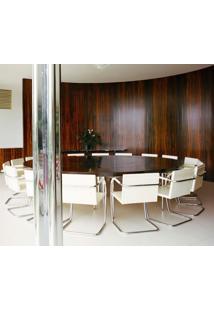 Cadeira Mr245 Inox Tecido Sintético Azul Marinho Dt 01022803