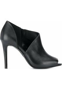 Michael Michael Kors Ankle Boot Com Salto - Preto