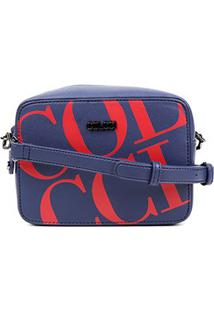 Bolsa Colcci Mini Bag Maxi Logo Feminina - Feminino-Marinho