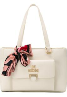 Love Moschino Bolsa Tote Eco Ice Cream - Neutro