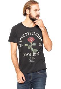 Camiseta John John Love Preta