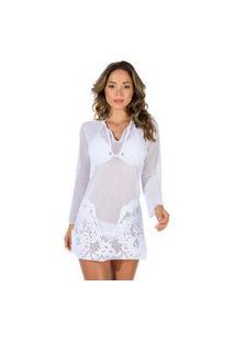 Vestido Anaju Saída De Praia Branco