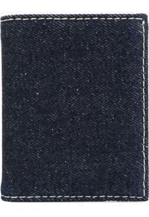 Comme Des Garçons Wallet Carteira Jeans Dobrável - Azul