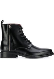 Trussardi Jeans Ankle Boot Bico Fino - Preto