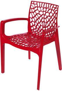 Cadeira Gruver Com Braco Polipropileno Vermelho - 30474 - Sun House