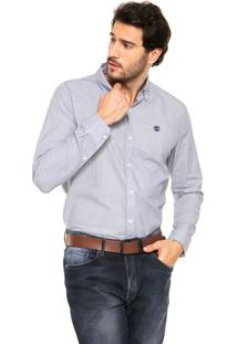 Camisa Timberland Rattle River Oxford St Azul